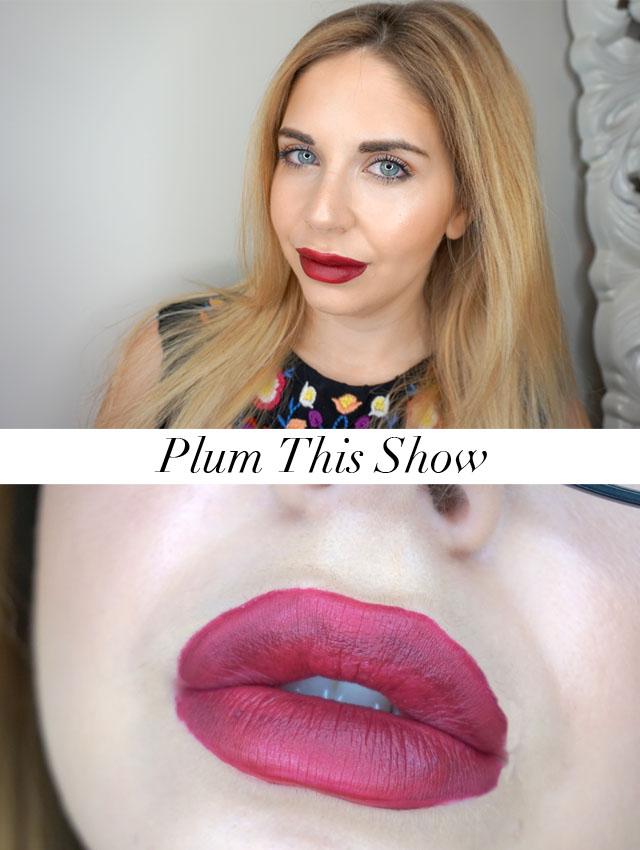 Rimmel London Stay Matte Liquid Lip Colour swatch in Plum This Show