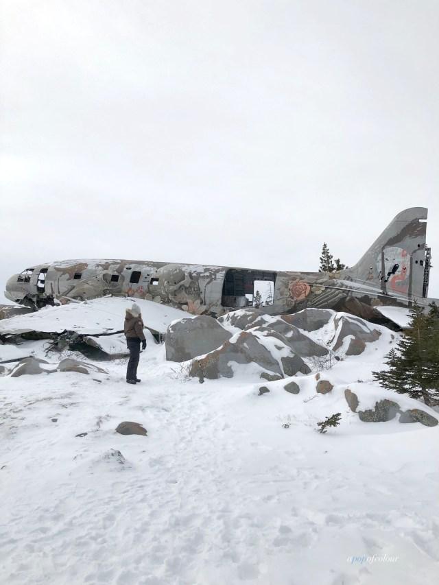 Miss Piggy plane wreck in Churchill, Manitoba