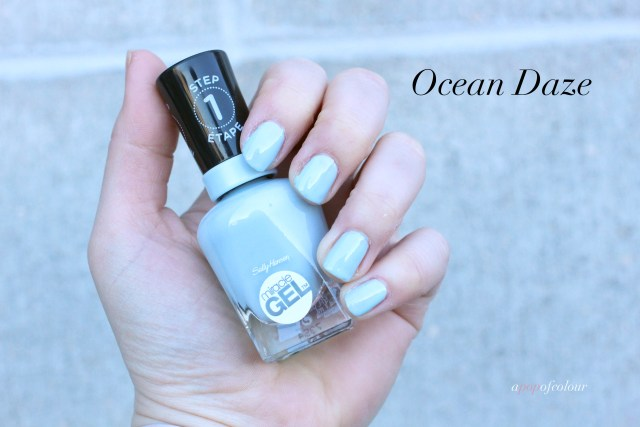 Sally Hansen Miracle Gel Pastel Punk collection, Ocean Daze swatched