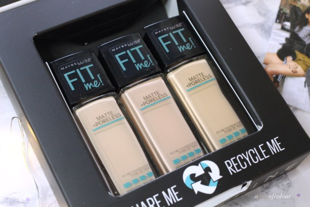 Maybelline Fit Me Matte and Poreless Foundations