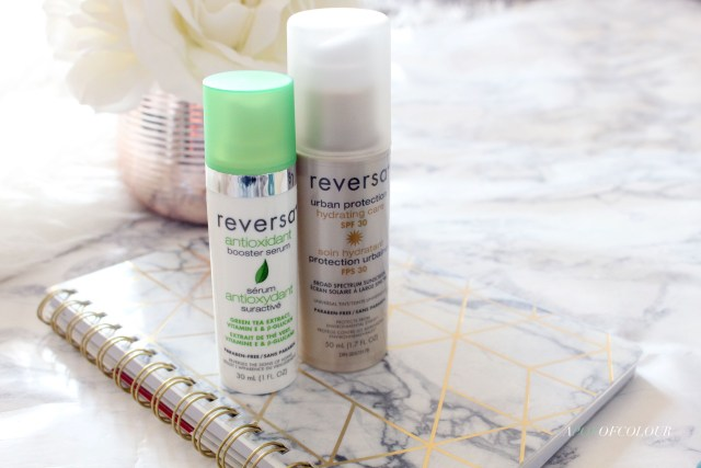 Reversa Urban Protection Hydrating Care SPF 30 and Reversa Antioxidant Booster Serum
