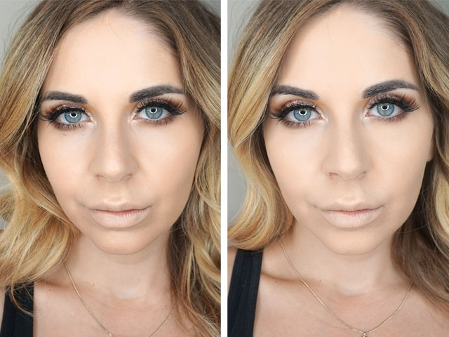 Before and after using Rodial Diamond Concealer