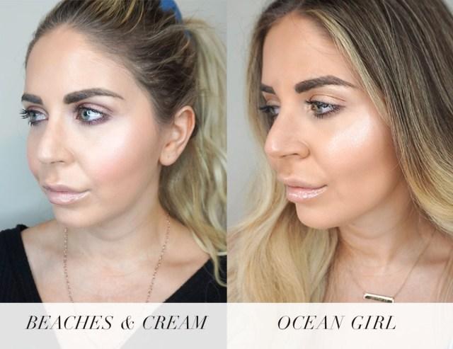 Beach Cheeks Cream Blushes swatches