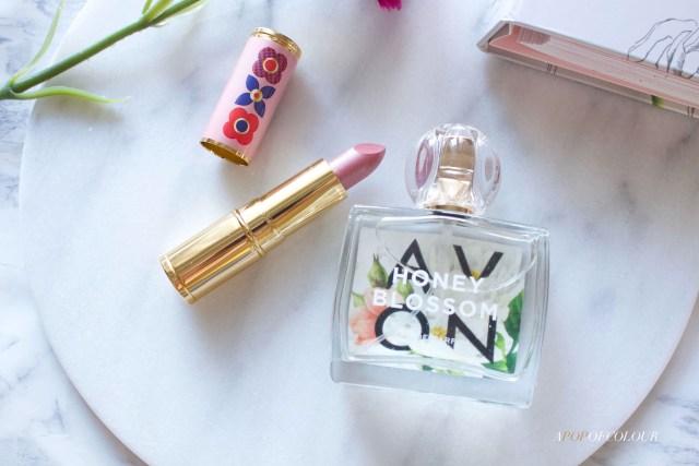 Avon Iconic Lipstick and Honey Blossom perfume
