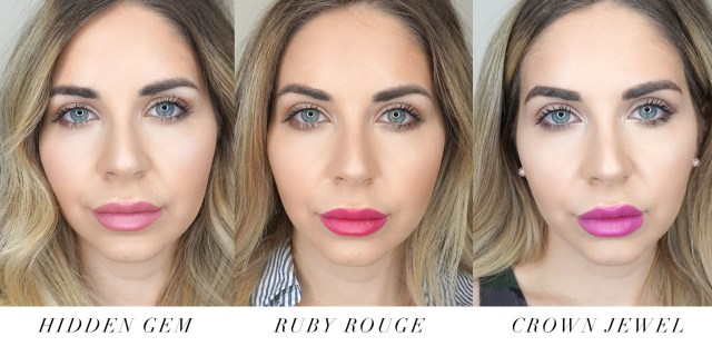 Juicy Couture Makeup Glitter Cream lipsticks swatched