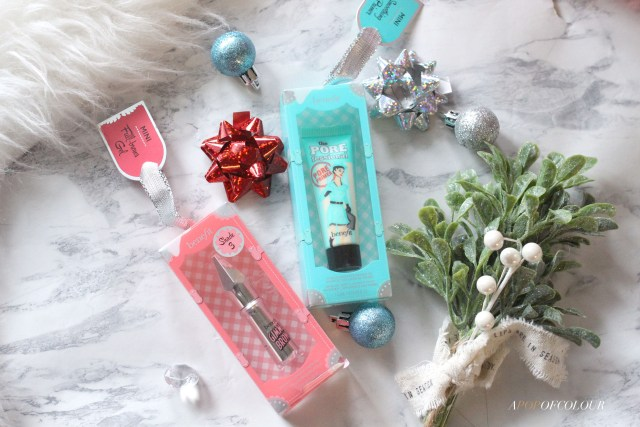 Benefit The POREfessional and Gimme Brow holiday ornaments