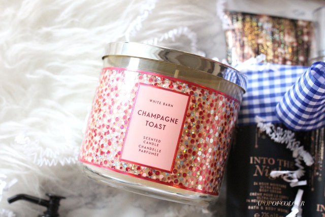 Champagne Toast candle from Bath and Body Works