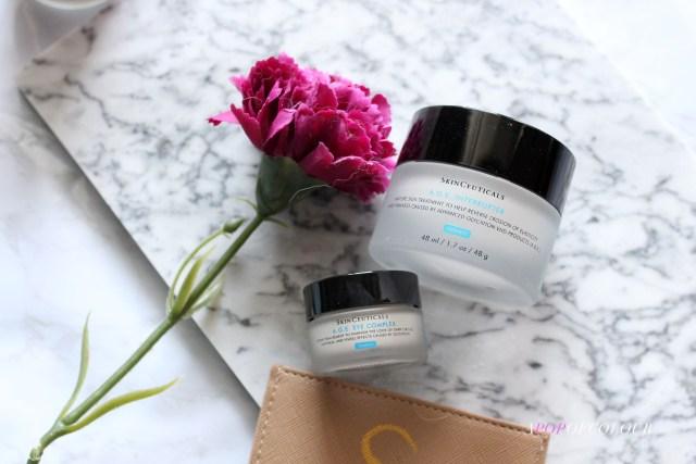 Skinceuticals AGE Interrupter moisturizer and AGE Eye Complex