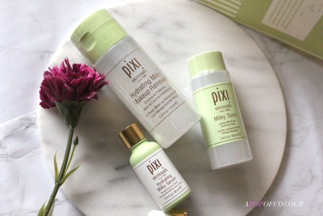 Pixi Beauty Hydrating Milky Makeup Remover, Serum, and Tonic