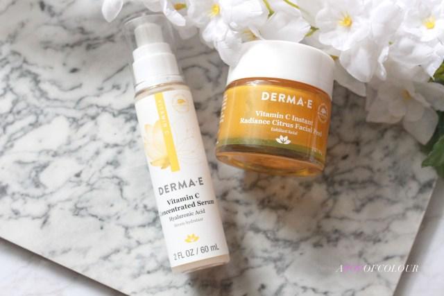 Derma E Vitamin C Instant Radiance Citrus Facial Peel and Vitamin C Concentrated Serum