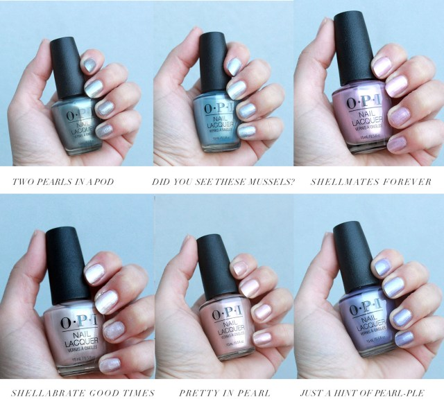 OPI Neo-Pearl collection swatches