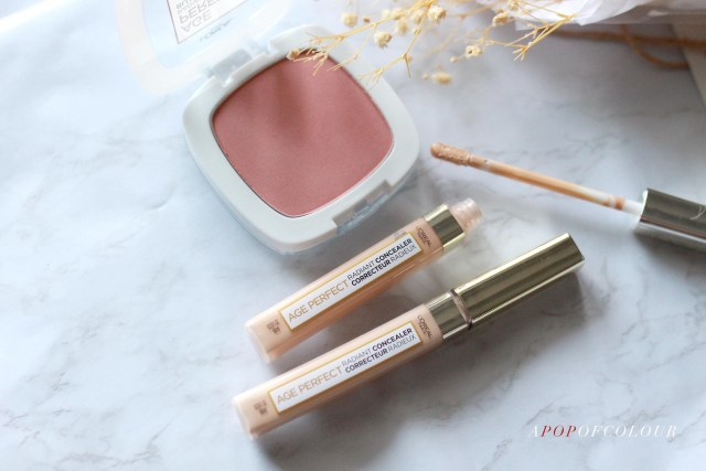 L'Oreal Paris Age Perfect Radiant Concealer and Radiant Satin Blush