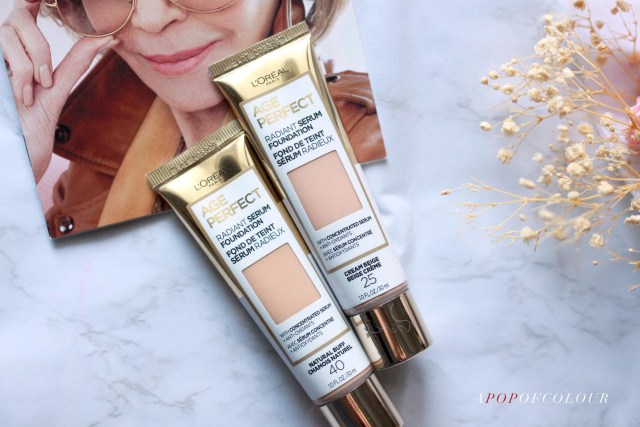 L'Oreal Paris Radiant Serum Foundation by Age Perfect