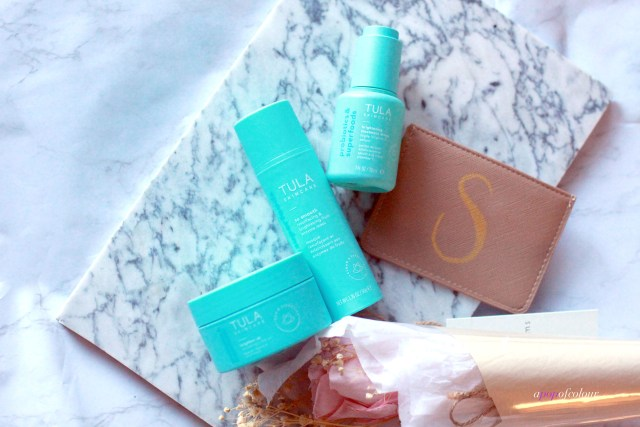 Three products from Tula for brightened skin