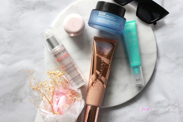 Skincare to try for April 2021 from Tula, Belif, Fenty Beauty, Reversa, and Laneige