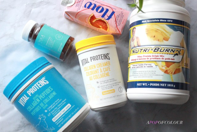 Wellness products from Flow, Vital Proteins, Arbonne, Tula