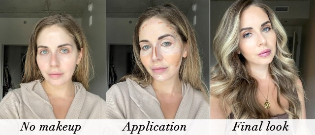 Cheekbone Beauty Sustain Complexion Pencils swatches and application