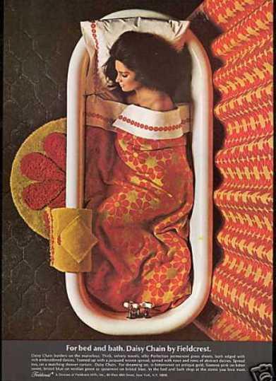 Vintage Decor 1968 Fieldcrest Towel