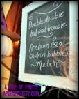 Halloween decorating idea - chalkboard