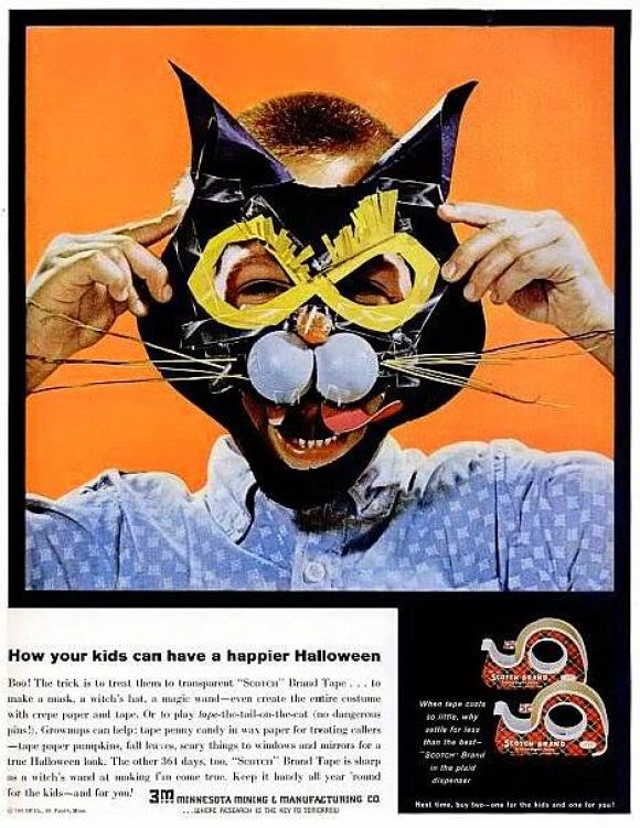 Vintage Halloween Ads.Sweet Vintage Halloween Ad For Scotch Tape Ad 14 Of 31 A Pop Of