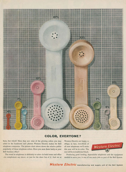 Gorgeous Mid Century Telephone Ads 31 Days Of Vintage Home Decor