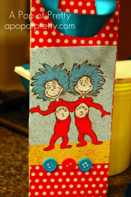 Thing 1 Thing 2 Dr. Seuss Christmas Ornament