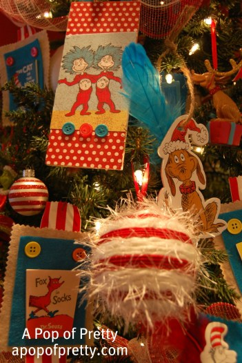 DIY Dr. Seuss Christmas Tree Decorations