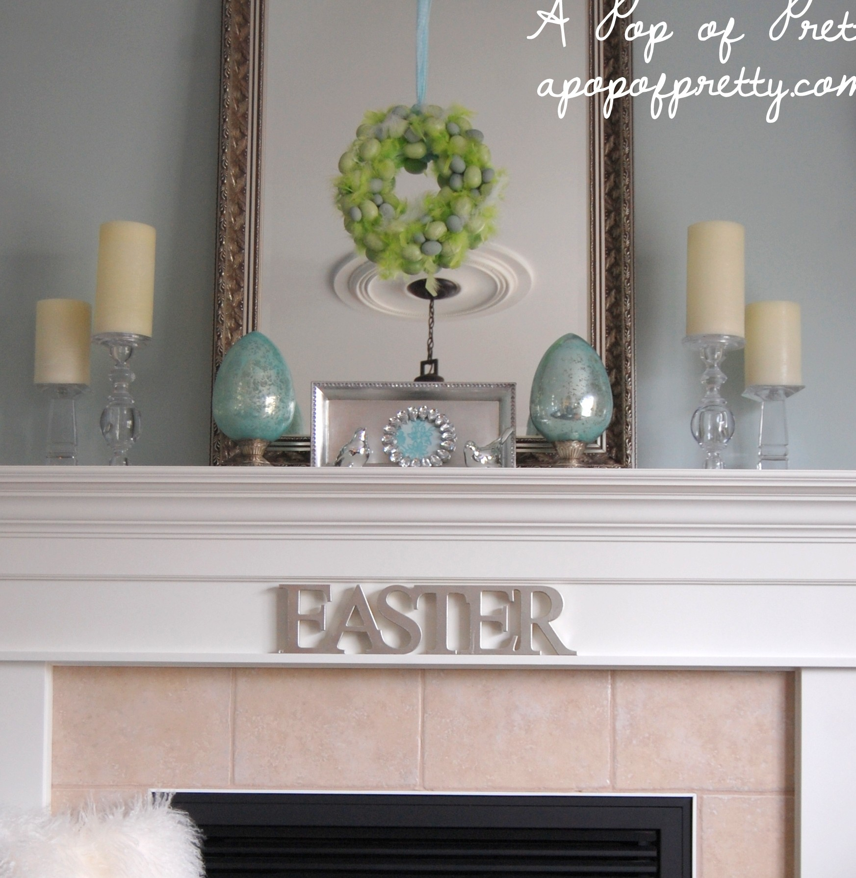 Easter decorating ideas decorate a simple easter mantel for Decorating blogs canada
