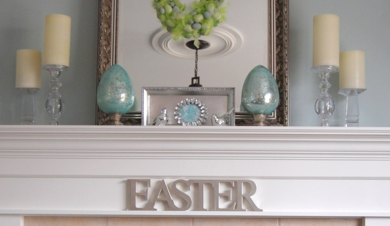 Easter Decorating Ideas: Decorate a Simple Easter Mantel!