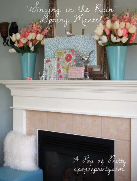 Spring Easter Mantel Decor
