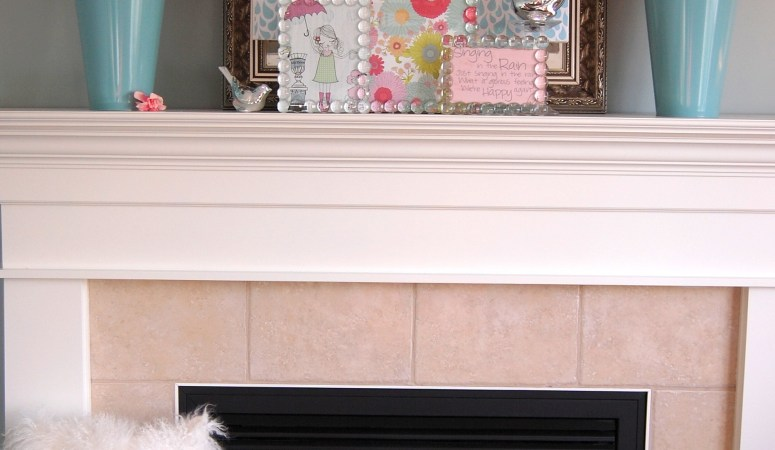 "Spring and Easter Decorating Ideas: My ""Singing in the Rain"" Mantel"