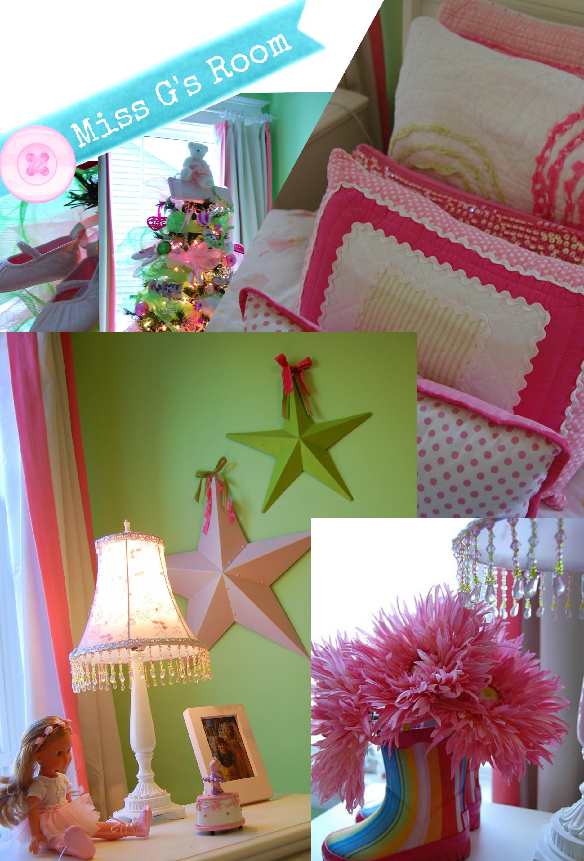 Teenage Rooms: Pink And Green Ballerina Girls Room