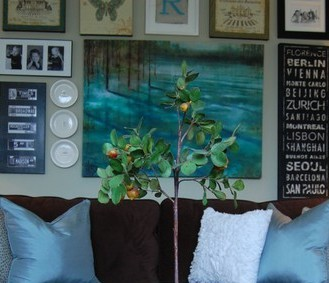 I miss my Living Room Gallery Wall! (The great debate: Simplicity vs Eclectic/collected decor?)
