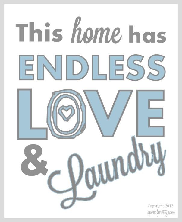 Free Laundry Printable