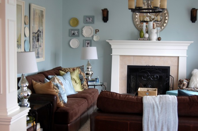 Benjamin Moore Woodlawn Blue room