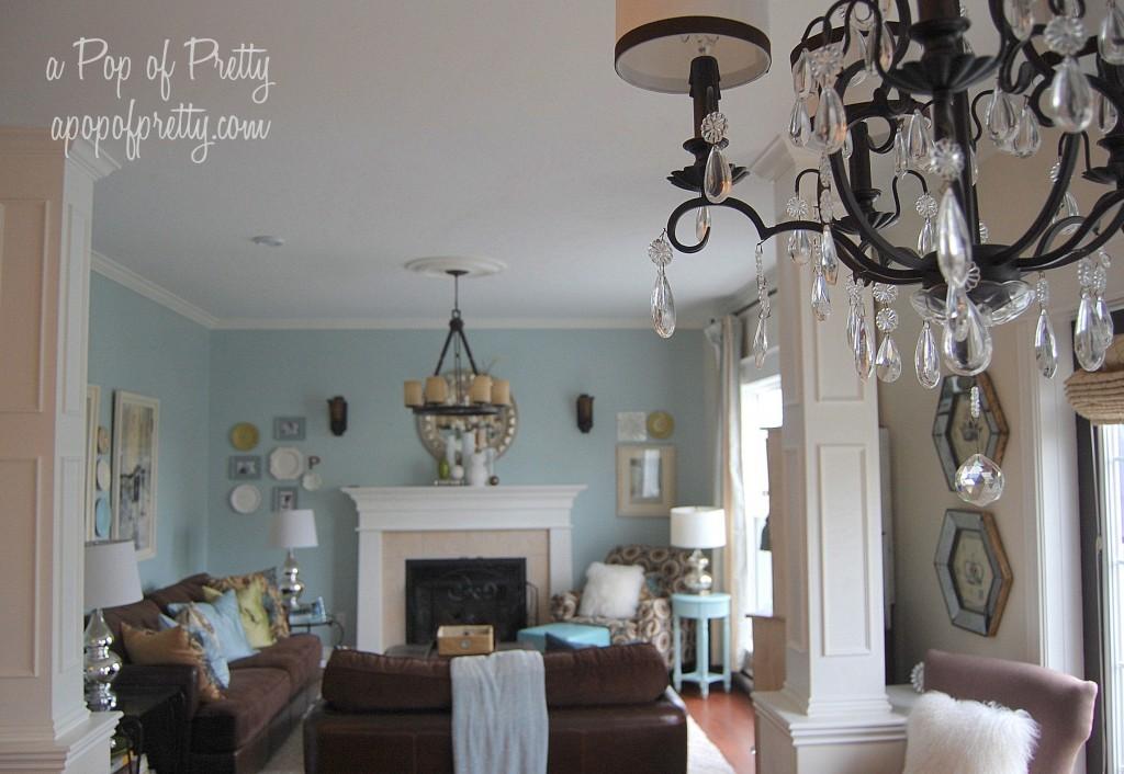 Living Room Evolution Benjamin Moore Woodlawn Blue A