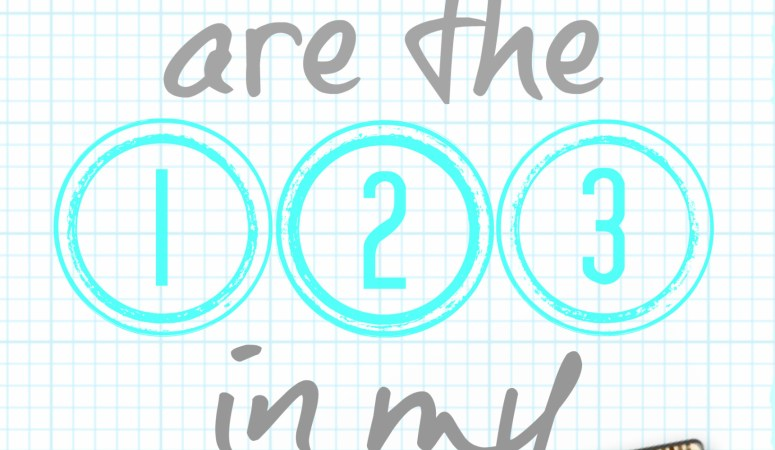 """Back-to-School Printable Art #2 (Free): """"You are the 1-2-3 in my ruler"""""""