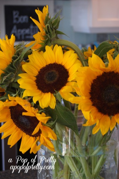 Fall decorating (sunflowers)