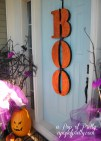 Halloween decorating ideas door Boo