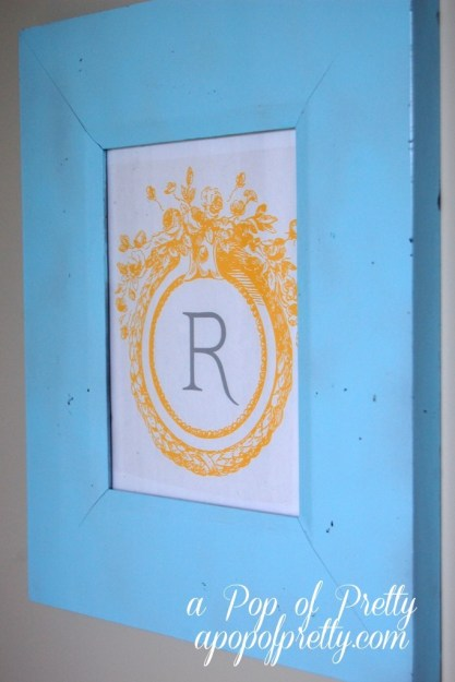 DIY Wall Art Monogram