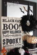 Halloween decorating ideas - subway art