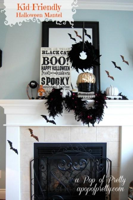 kid friendly halloween decorating ideas a pop of pretty blog canadian home decorating blog. Black Bedroom Furniture Sets. Home Design Ideas