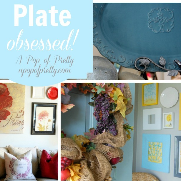 Diy Home Decorating Blogs: Plate-obsessed! (DIY Wall Art Idea #4)
