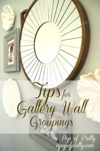DIY Wall Art Idea - Gallery Wall Groupings! | A Pop of ...