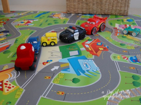 car rug idea for toddler room