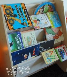 toddler boy room bookshelf idea