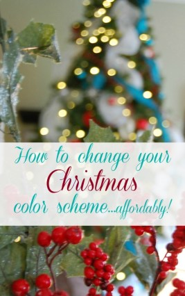 How to change your Christmas color scheme