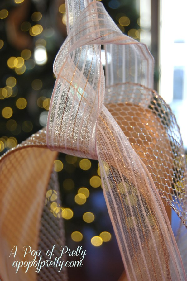 Add Ribbon Christmas Tree Tutorial - Pop Of Pretty