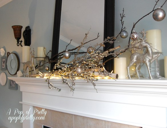 decorate a mantel with branches