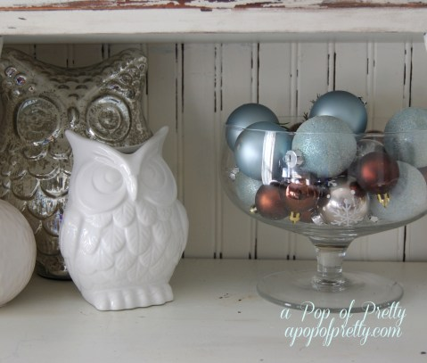 owls Christmas decor
